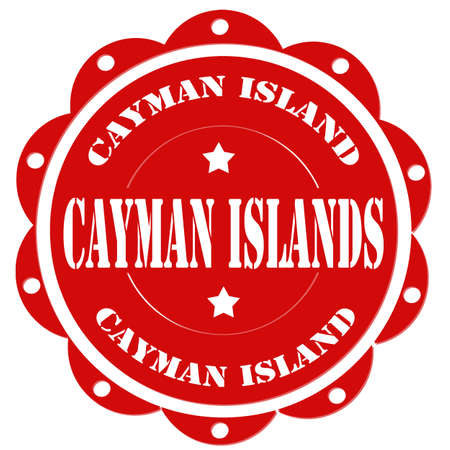 cayman: Red stamp with text Cayman Islands,vector illustration
