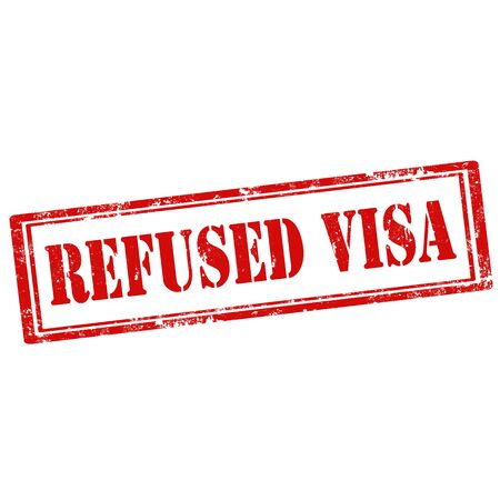 refused: Grunge rubber stamp with text Refused Visa,vector illustration