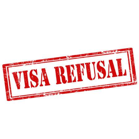 refusal: Grunge rubber stamp with text Visa Refusal,vector illustration