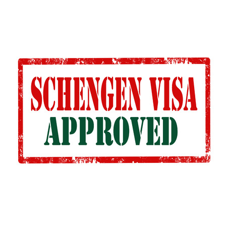 visa approved: Grunge rubber stamp with text Schengen Visa,vector illustration
