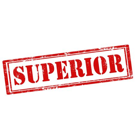 superiors: Grunge rubber stamp with text Superior,vector illustration