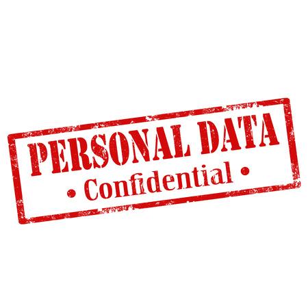 Grunge sello de goma con el texto de Datos de Carácter Personal, ilustración vectorial