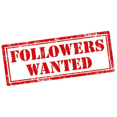 followers: Grunge timbro di gomma con i seguaci di testo Wanted, illustrazione vettoriale