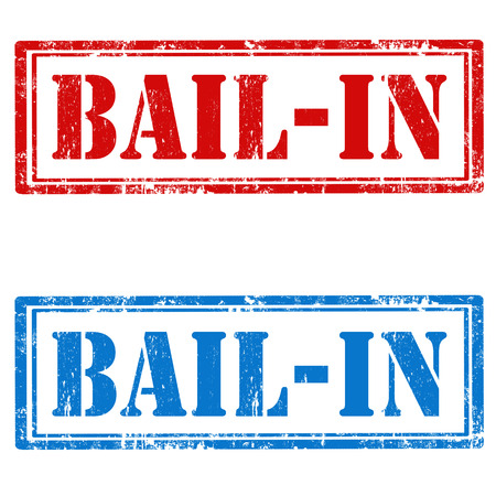 bail: Set of grunge rubber stamps with text Bail-In,vector illustration Illustration