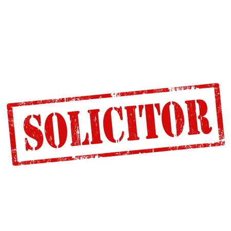 solicitor: Grunge rubber stamp with text Solicitor,vector illustration