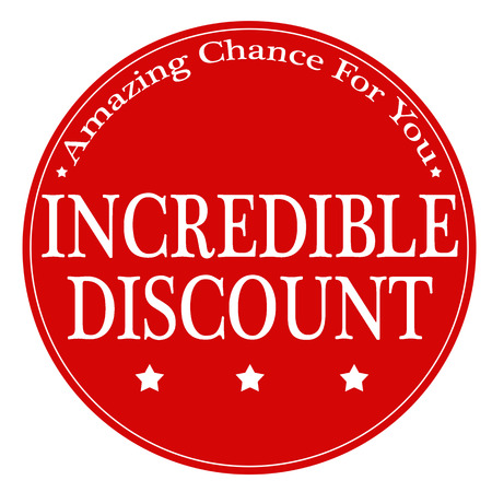 chances: Red stamp with text Incredible Discount,vector illustration