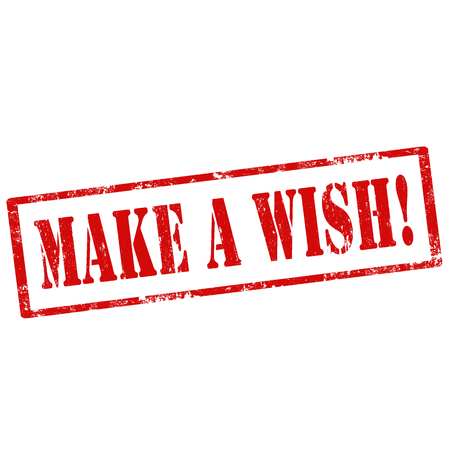 wish: Grunge rubber stamp with text Make A Wish,vector illustration