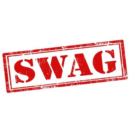 swag: Grunge sello de goma con el Swag de texto, ilustraci�n vectorial