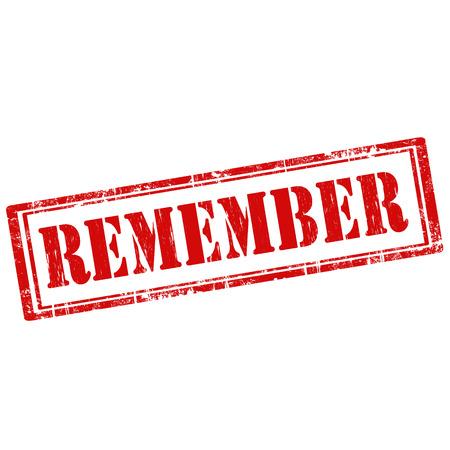 recordar: Grunge sello de goma con el texto Recuerde, ilustración vectorial