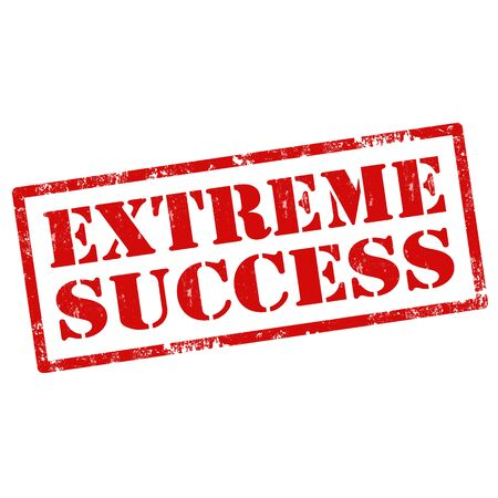 excessive: Grunge rubber stamp with text Extreme Success,vector illustration