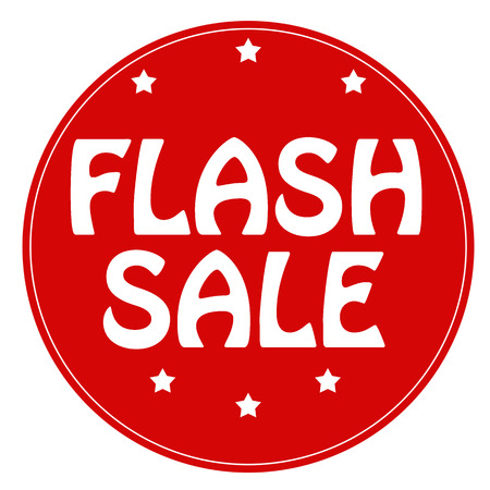 Red stamp with text Flash Sale, illustration Vettoriali