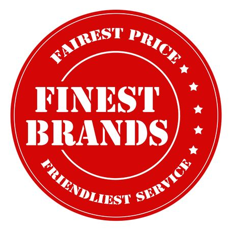 finest: Red stamp with text Finest Brands