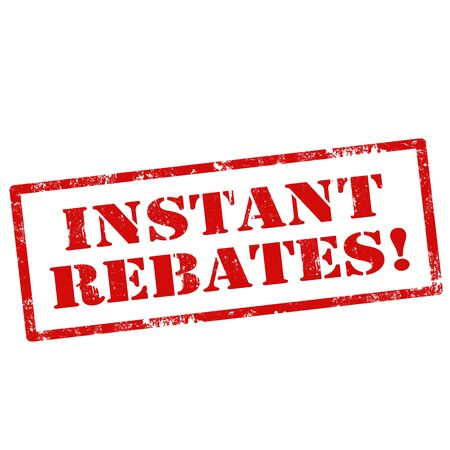 rebates: Grunge rubber stamp with text Instant Rebates