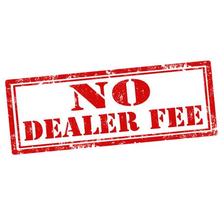 honorarios: Grunge sello de goma con el texto Fee No Dealer