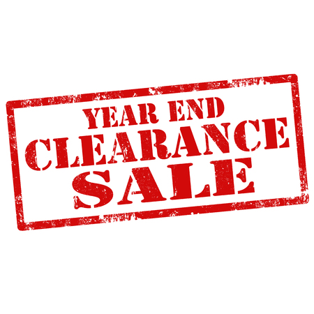end of year: Grunge rubber stamp with text Year End Clearance Sale,vector illustration Illustration