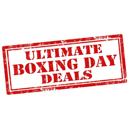 ultimate: Grunge rubber stamp with text Ultimate Boxing Day Deals,vector illustration