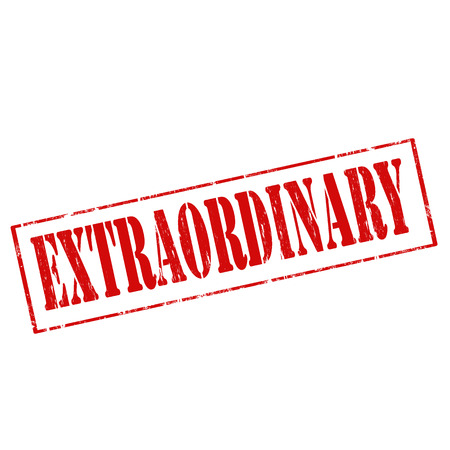 extraordinary: Grunge rubber stamp with text Extraordinary