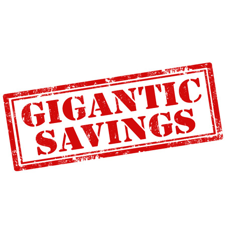 gigantic: Grunge rubber stamp with text Gigantic Savings