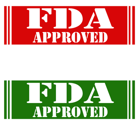 permitted: Set of stamps with text FDA-Approved,vector illustration