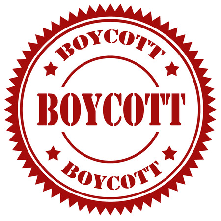 boycott: Red stamp with text Boycott,vector illustration Illustration