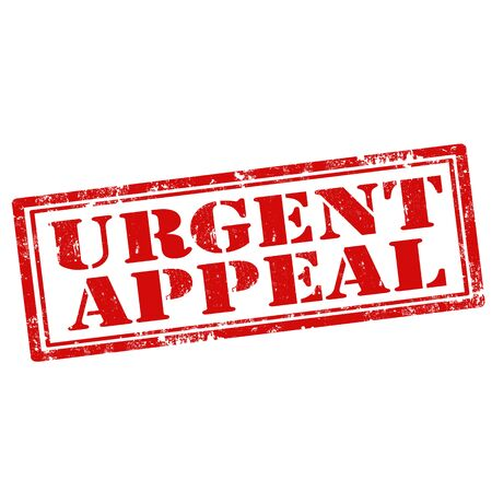 appeals: Grunge rubber stamp with text Urgent Appeal,vector illustration