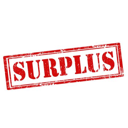 surplus: Grunge rubber stamp with text Surplus, illustration