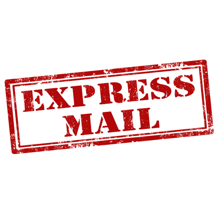 express: Grunge rubber stamp with text Express Mail, illustration