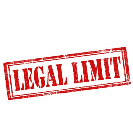 lawful: Grunge rubber stamp with text Legal Limit, illustration Illustration