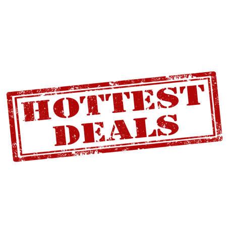 deals: Grunge rubber stamp with text Hottest Deals
