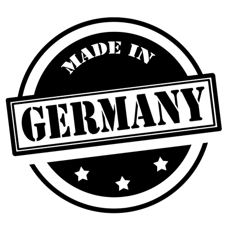 exported: Black stamp with text Made in Germany,vector illustration Illustration