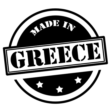 Black stamp with text Made in Greece,vector illustration