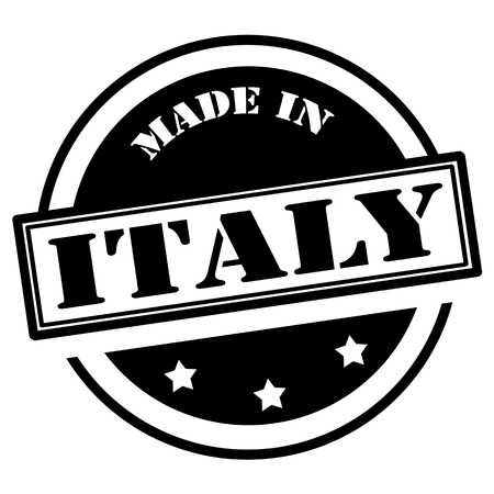 invent: Black stamp with text Made in Italy,vector illustration