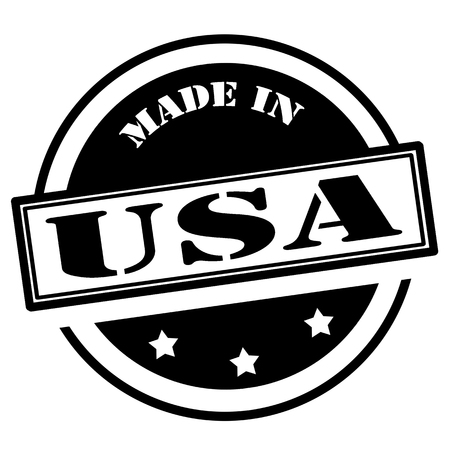 inventions: Black stamp with text Made in USA,vector illustration