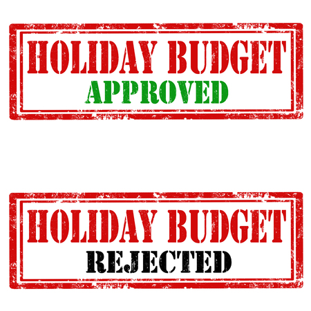 holiday budget: Set of grunge rubber stamps with text Holiday Budget,vector illustration