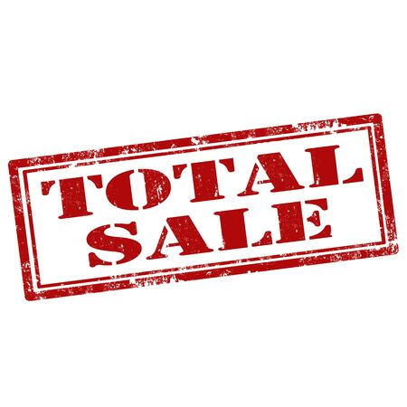 total: Grunge rubber stamp with text Total Sale,vector illustration Illustration