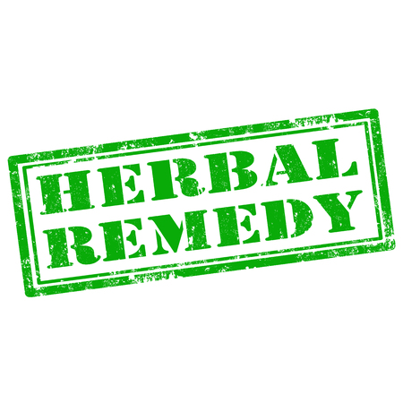 remedy: Grunge rubber stamp with text Herbal Remedy,vector illustration