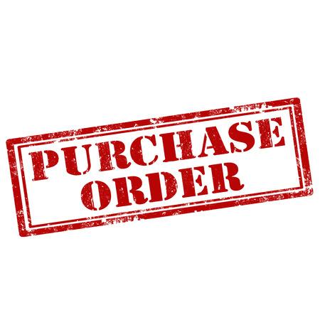 orden de compra: Grunge sello de goma con el texto de la orden de compra, ilustraci�n vectorial