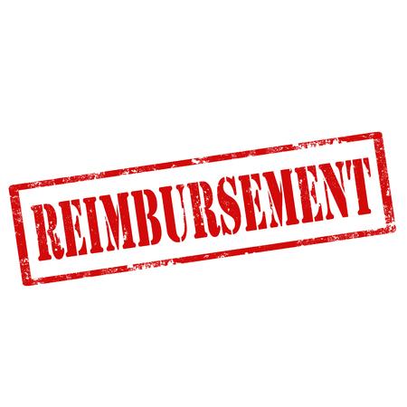 restitution: Grunge rubber stamp with text Reimbursement,vector illustration