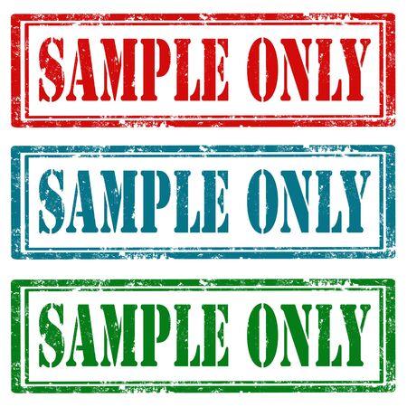 Set of grunge rubber stamps with text Sample Only,vector illustration Ilustração Vetorial