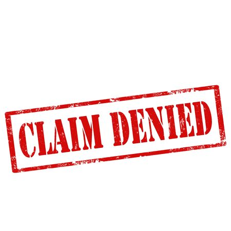 denied: Grunge rubber stamp with text Claim Denied,vector illustration Illustration