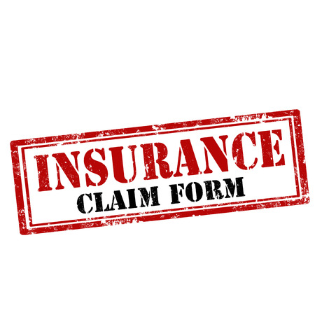 insurance claim: Grunge rubber stamp with text Insurance-Claim Form,vector illustration
