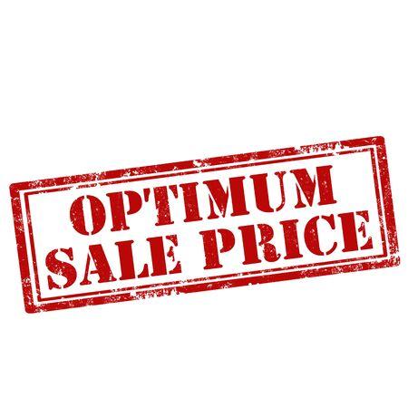 optimum: Grunge rubber stamp with text Optimum Sale Price,vector illustration Illustration