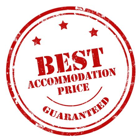 accommodation: Grunge rubber stamp with text Best Accommodation Price,vector illustration