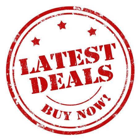 deals: Grunge rubber stamp with text Latest Deals,vector illustration Illustration