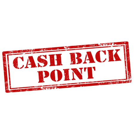 point of sale: Grunge rubber stamp with text Cash Back Point