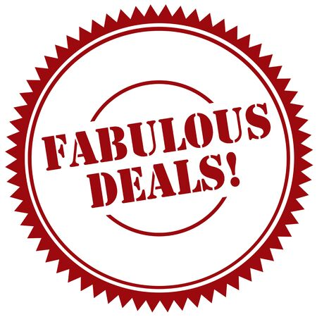 fabulous: Red stamp with text Fabulous Deals, illustration Illustration