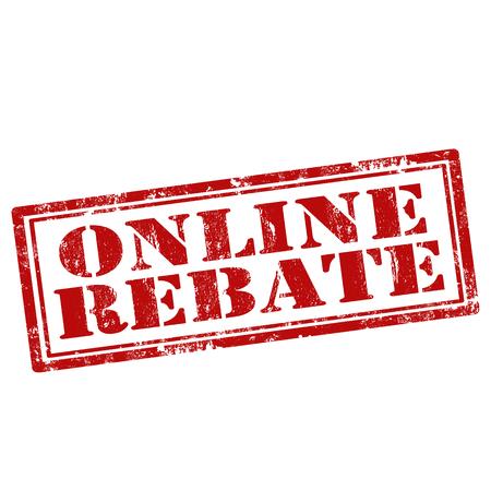 rebate: Grunge rubber stamp with text Online Rebate,illustration Illustration