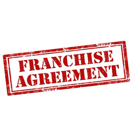 accord: Grunge rubber stamp with text Franchise Agreement, illustration Illustration