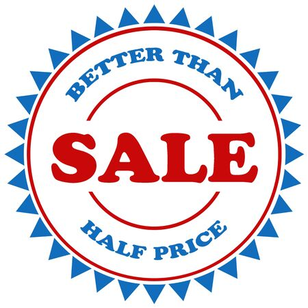 better price: Stamp with text Better Than Half Price-Sale,illustration