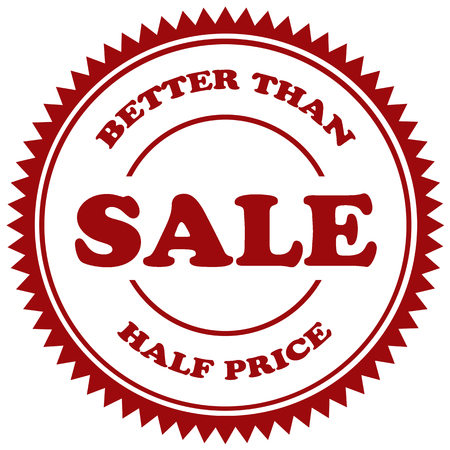 better: Stamp with text Better Than Half Price-Sale,illustration